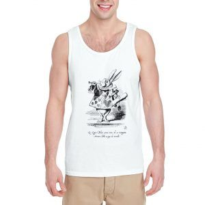 White-Rabbit-Blows-Trumpet-Tank-Top-For-Women-And-Men-Size-S-3XL
