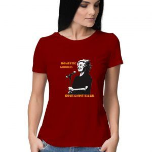 Domestic-Goddess-Roseanne-Barr-T-Shirt-Maroon