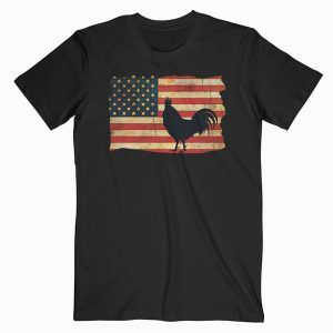 Vintage US Flag Cock Fight